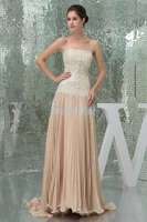 free shipping 2015 new design hot sale strapless custommade sizecolor champagne chiffon a line sequined long evening dress