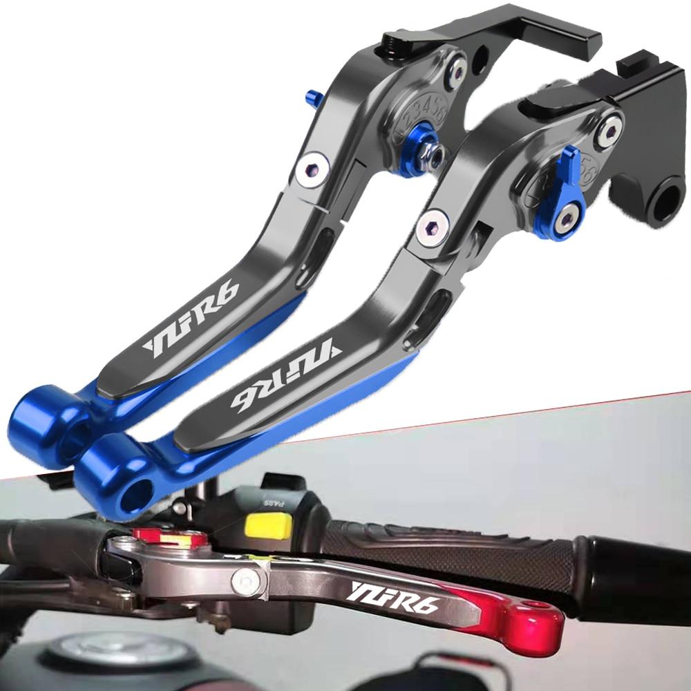arashi 1pair yzf r6 2003 2004 cnc front brake discs brake rotors for yamaha r6 600 2003 2004 xj6 fz6 faser s2 diversion mt 03 09 For YAMAHA YZFR6 YZF-R6 YZF R6 1999 2000 2001 2002 2003 2004 Motorcycle Clutch Brake Lever Extendable Adjustable Handle Grips
