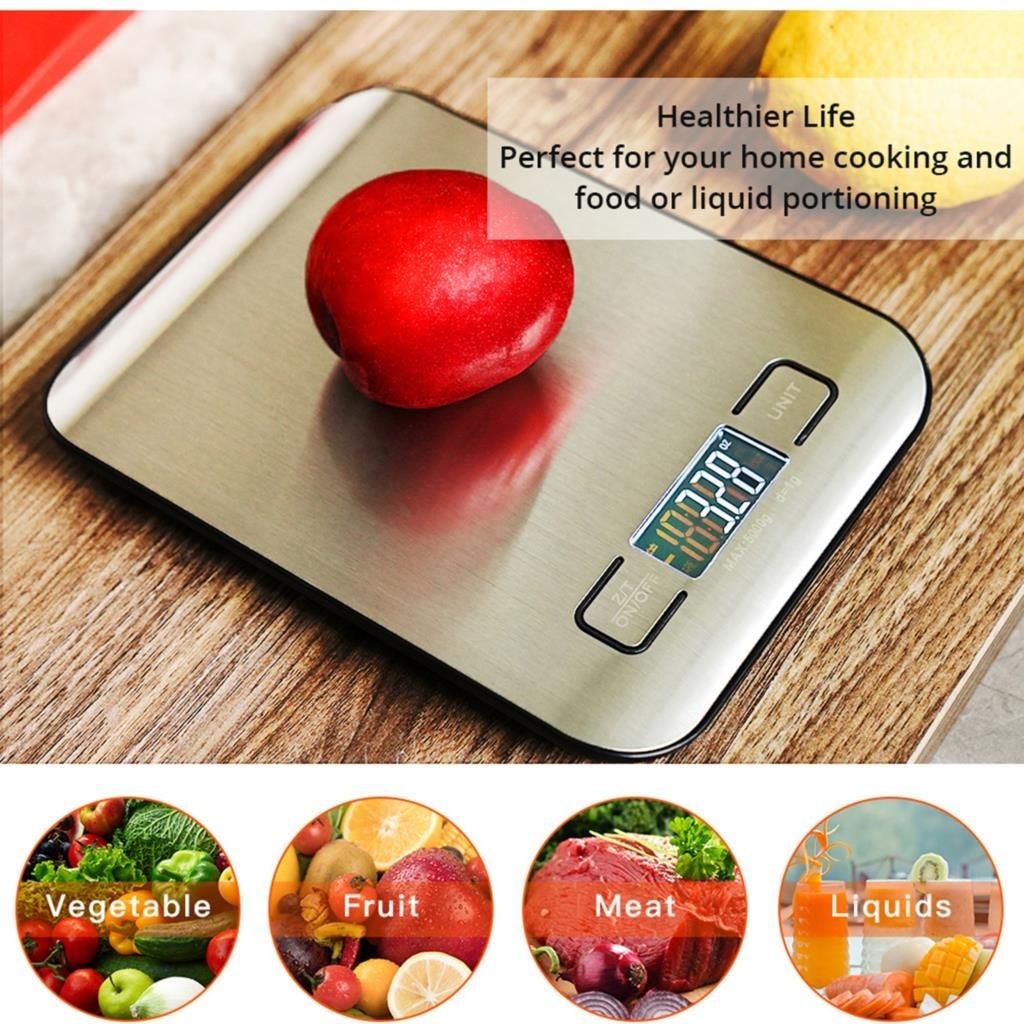 المطبخ مقياس موازين الطعام الإلكترونية أدوات قياس لوازم مطبخ عالي الجودة اكسسوارات مقياس وزن إلكتروني