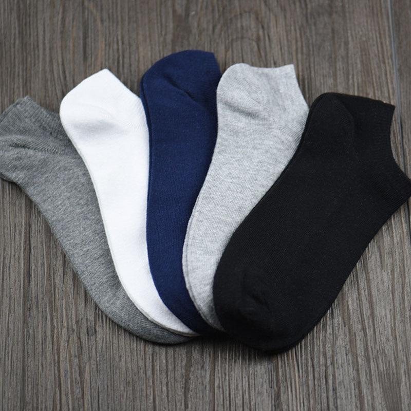 Nuevos 5 pares de calcetas de hombre algodón tobillo corto transpirable Casual para deportes correr negocio Drop Shipping