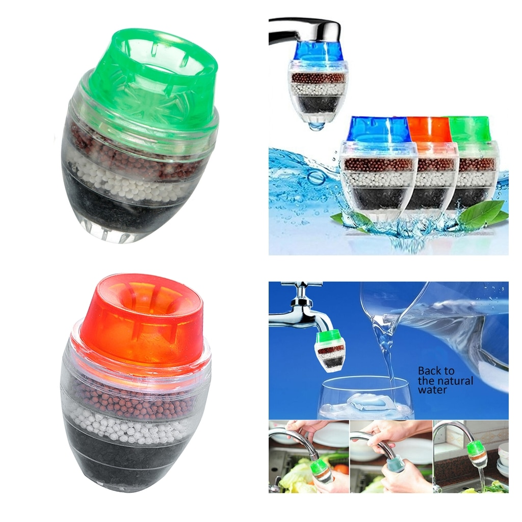 2x Water Filter Household 5-layer Tap Nozzle Filter Sprayer PVC Cartridge