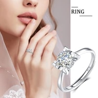 szjinao 66mm round cut moissanite ring women girl wedding bands engagement rings bride 925 silver cute fine jewelry 2021 trend