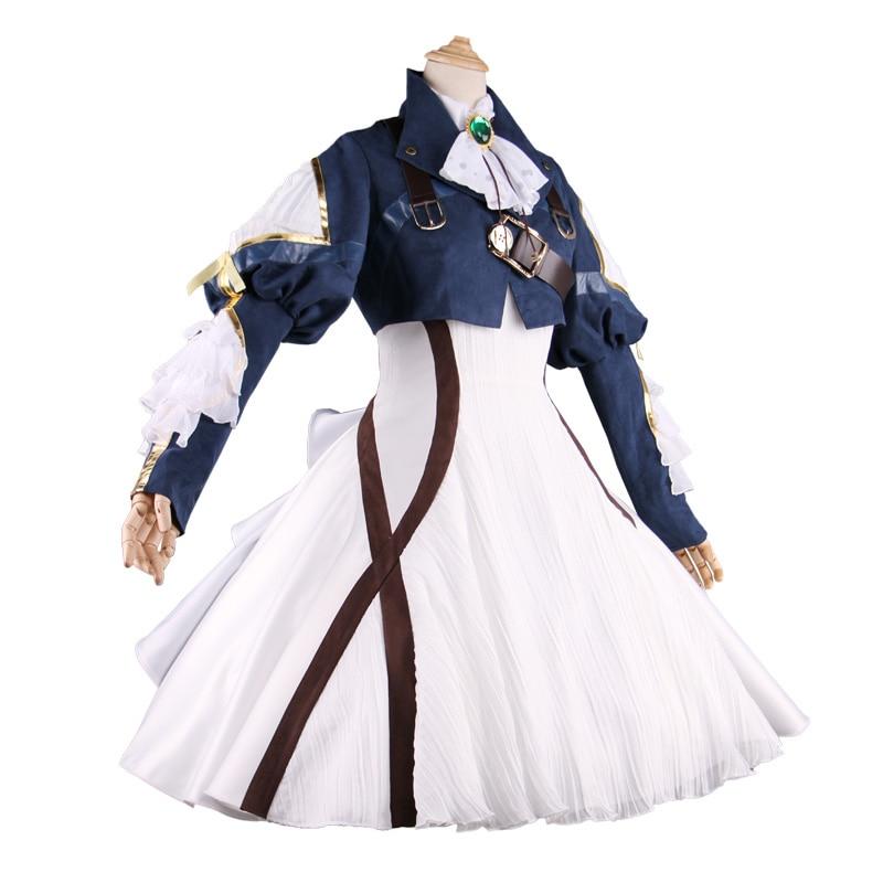 أنيم البنفسجي Evergarden تأثيري زي البنفسجي Evergarden تأثيري اللباس الزي كرنفال/هالوين ازياء للنساء S-XL
