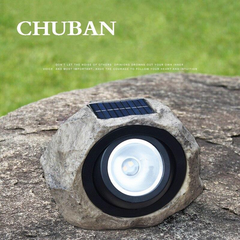 CHUBAN, luz de linterna solar subterránea, lámparas solares para césped, para exteriores, jardín, foco Solar, sendero, paisaje, piedra, Solar lam