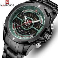 NAVIFORCE Mens קוורץ שעונים למעלה מותג יוקרה עמיד למים איש עסקי שעון צבאי צבא אופנה זכר שעון Relogio Masculino
