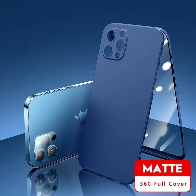 Front Tempered Glass+Back Cover for IPhone 11 12 Pro Max 360 Full Cover Protection Phone Case for IP