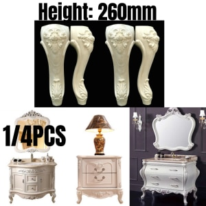 1/4PCS Solid Wood Furniture Legs Feet Replacement Support For Sofa Couch Chair Coffe Tea Table Cabinet TV Stands 260mm