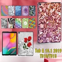 tablet case for samsung galaxy tab a 10 1 inch 2019 t510t515 casual fall resistance plastic hard back shell coverstylus