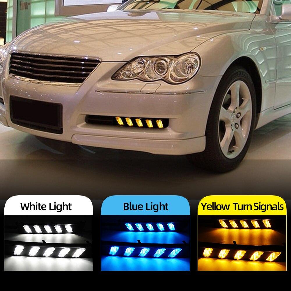 Luz de circulación diurna intermitente para coche 2 uds DRL para Toyota MARK X REIZ 2004 2005 2006 2007 2008 2009 lámpara antiniebla LED