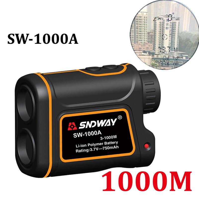 Telémetro láser telescópico de 1000M, medidor de distancia, telémetro Digital Monocular para caza, telémetro láser de golf, cinta métrica