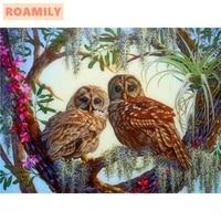 roamilynew arrival full displaydiamond paintingdiamond embroidery owlembroidered with rhinestoneswall painting