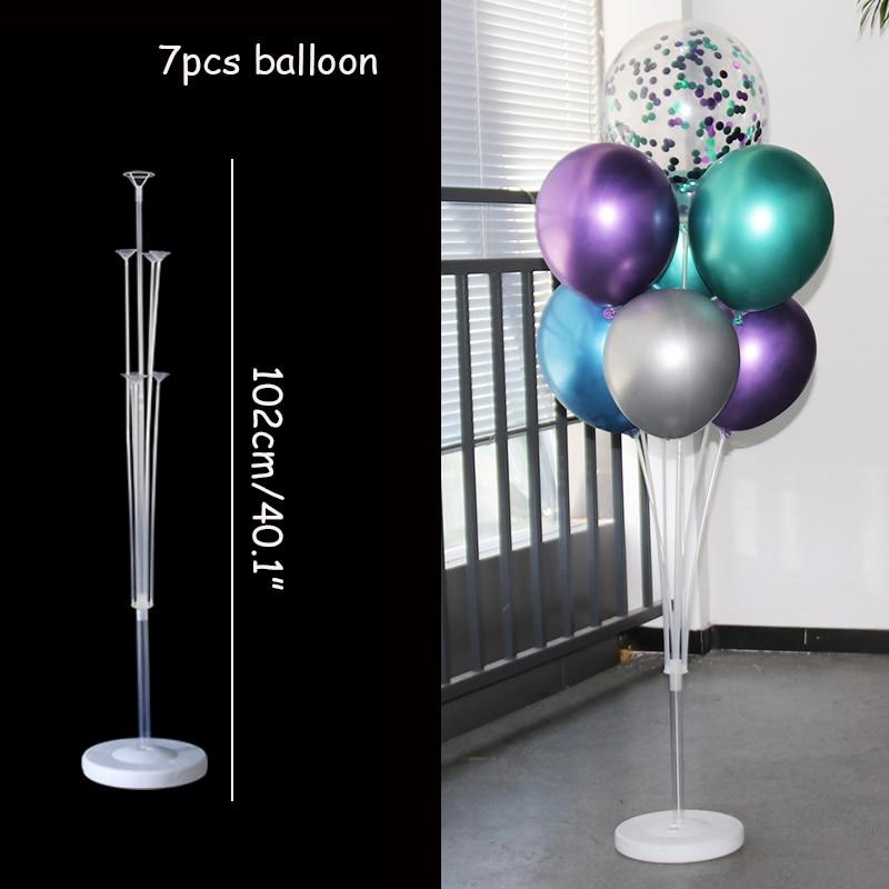 WEIGAO 7/10 tube balloon stand birthday balloons arch stick holder wedding decor baloon globos birthday party decorations kids