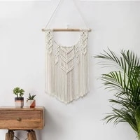hand woven tapestry bohemian style home decor cotton rope pendant room decor tapestry