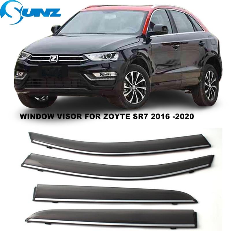 Side Window Visor For Zoyte SR7 2016 2017 2018 2019 2020 Sun Rain Deflectors Window Rain Guards SUNZ