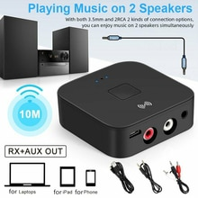 Bluetooth 5.0 RCA Audio Receiver APTX 3.5mm AUX Jack Music Wireless Bluetooth Adapter With NFC for C