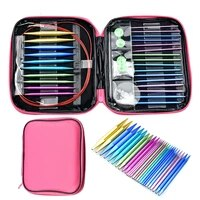 26 pcs crochet hook set circular diy knitting needles change head needle for women diy craft sewing accessories with case