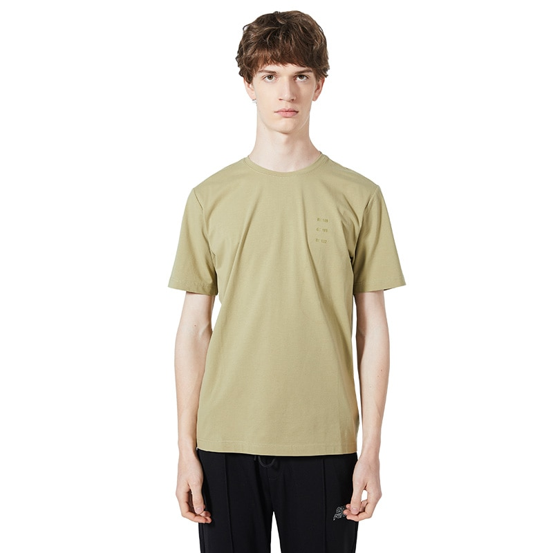Camiseta de manga corta gris azul minimalista para hombre 2020/camiseta elástica ligera RGB