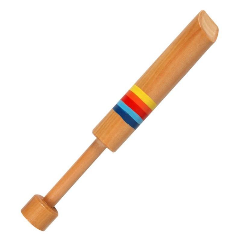 Instrumento Musical pequeño Piccolo de madera para niños juguetes educativos infantiles