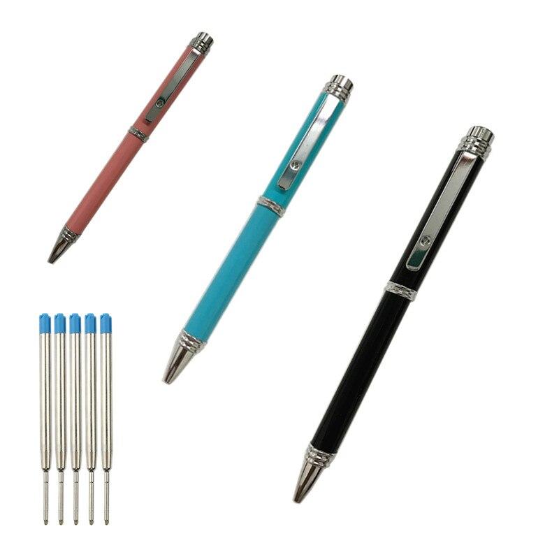 Шариковая ручка в шариковых ручках рекламная проволочная ручка высококачественная металлическая шариковая ручка, вращающаяся из черного ...