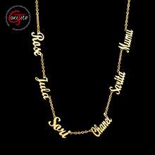 Goxijite personnalisé plusieurs noms collier personnalisé 6 plaques signalétiques pendentif colliers bijoux meilleur cadeau en acier inoxydable