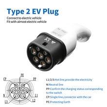 32a evse type2 elektrische auto ladekabel iec typ 2 ladestecker elektrische fahrzeug kabel
