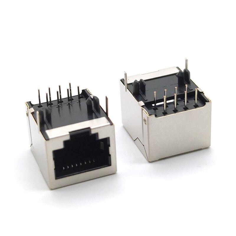 10 шт. RJ45 8P8C 18*13 мм Модульный сетевой разъем для PCB Jack 8P LAN адаптер разъем