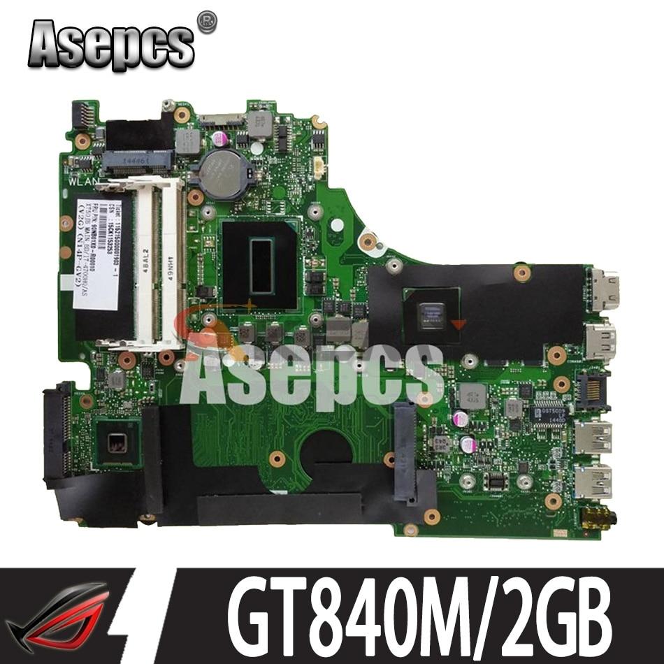 Asepcs X750JN GT840M/2GB i5-4200U + 4G RAM + المبرد اللوحة ل Asus X750J k750J A750J X750JN X750JB دفتر اللوحة الرئيسية