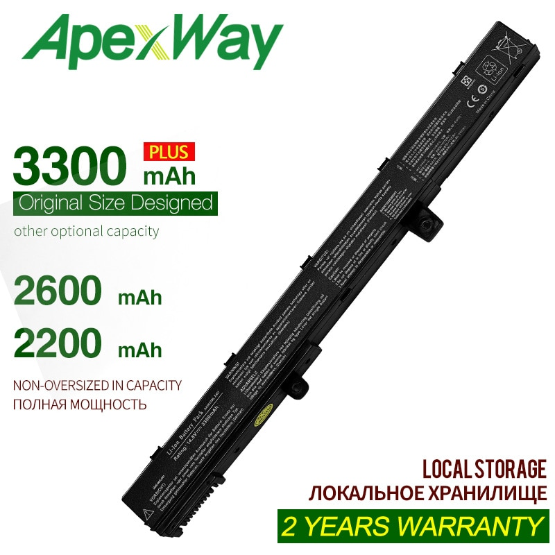 ApexWay 14,4 V 3300mAh A41N1308 A31N1319 batería de portátil para asus X451 X551 0B110-00250100 X551M X451C X451CA X551C X551CA serie