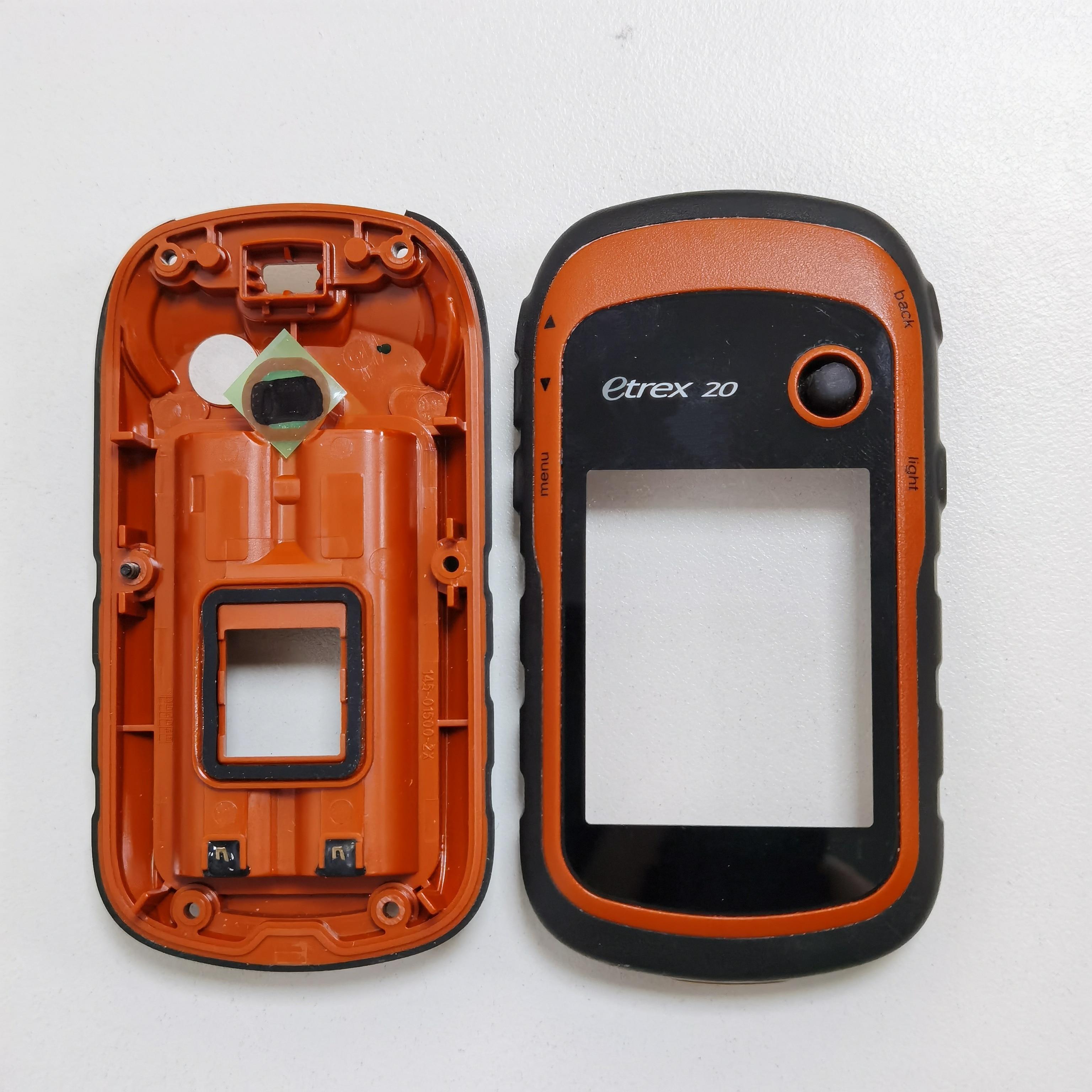 الإسكان الأصلي قذيفة ل Garmin etrex 20 نظام تحديد المواقع الزجاج شاشة تعمل باللمس الغطاء الأمامي الخلفي للقضية Etrex 20 إصلاح استبدال