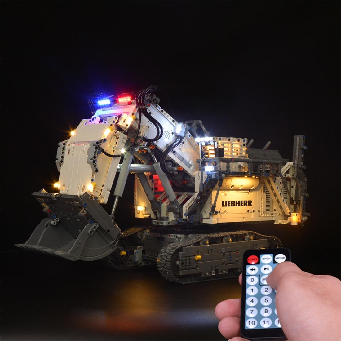 Building Block LED Lighting Kit For Liebherr R 9800 Excavator 42100(LED Light Included Only, No Kit)- Remote Control Version