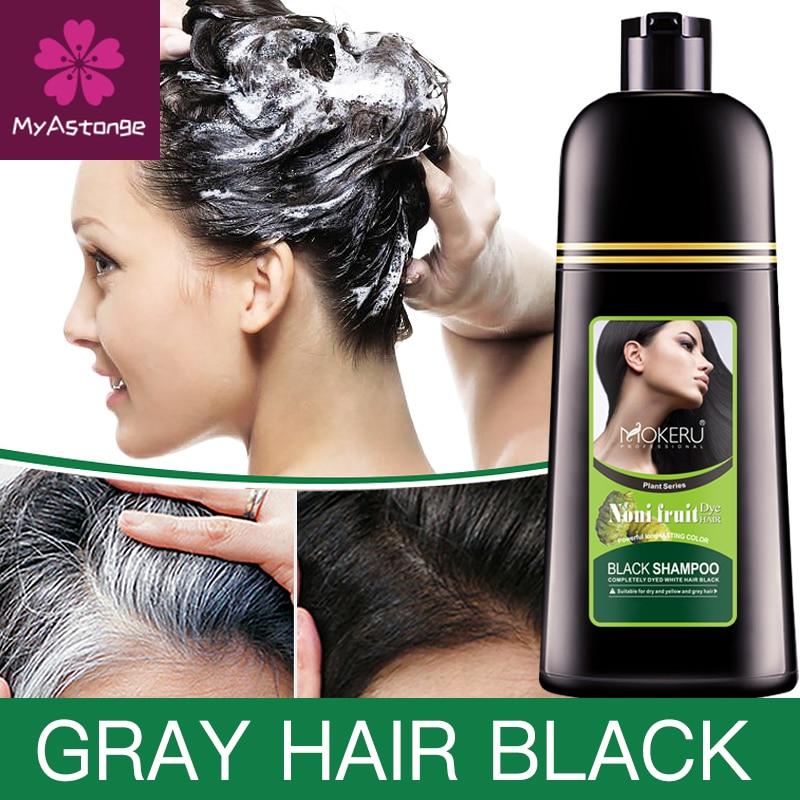 aliexpress.com - Mokeru Organic Natural Fast Hair Dye Only 5 Minutes Noni Plant Essence Black Hair Color Dye Shampoo For Cover Gray White Hair