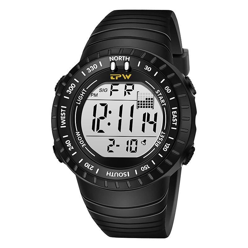 Digital Watches Outdoor Sport 5ATM Waterproof Swimming LED Backlight Men Big Dial