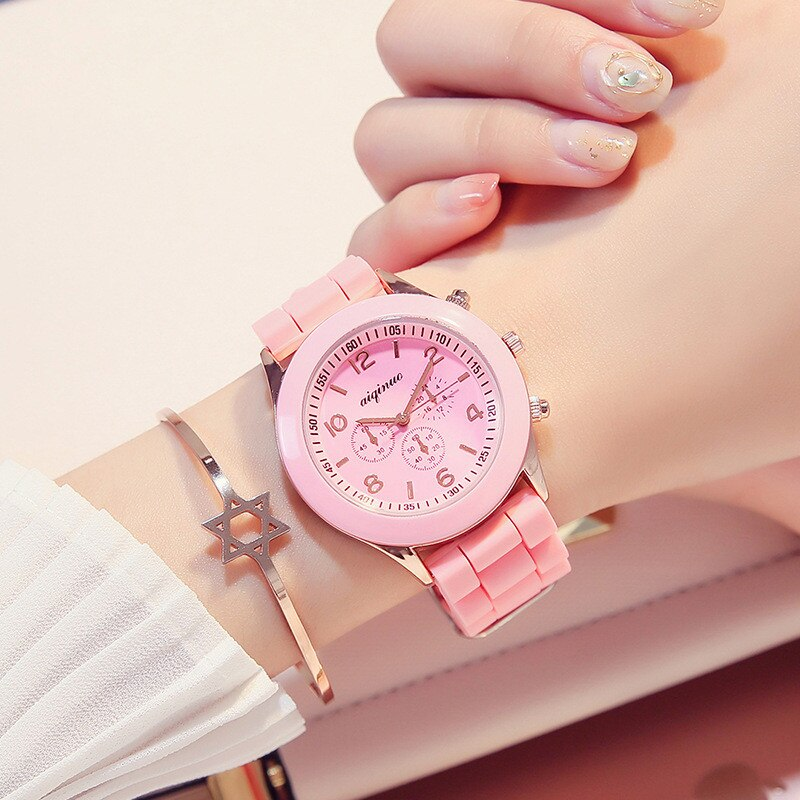 New Silicone Band Clock Sports Wrist Watch Men Women Couple Harajuku College Watches For Lover Gift