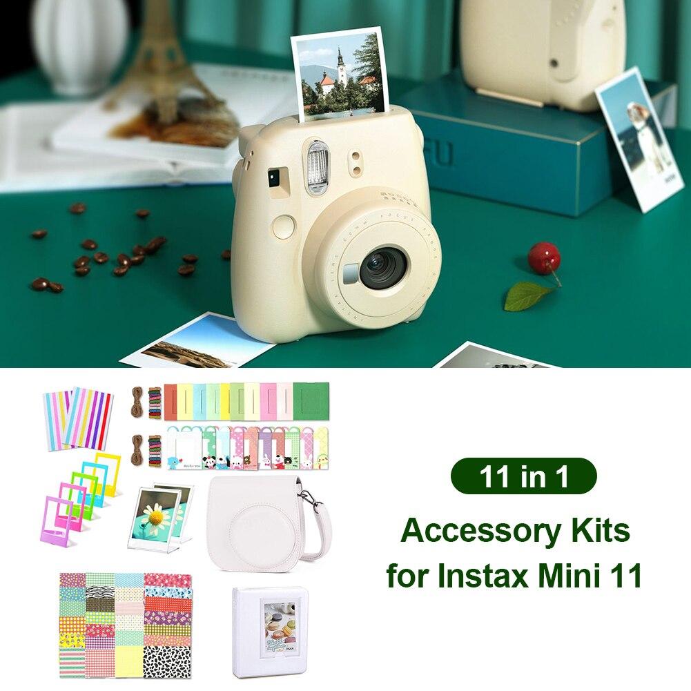 ملحقات كاميرا فورية حزمة حقيبة كتف ألبوم إطارات الصور كاميرا حامي حافظة لجهاز Fujifilm Instax Mi