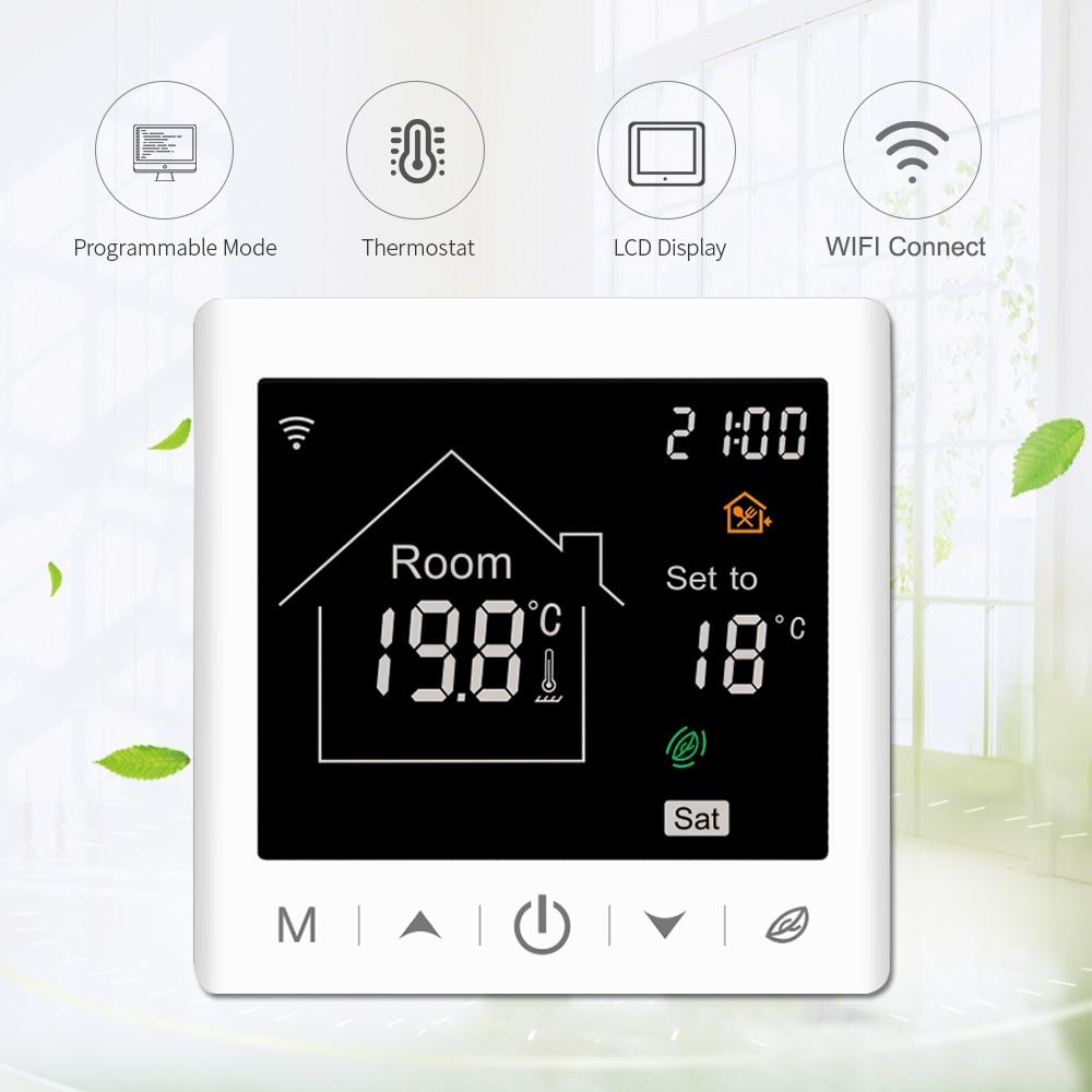 Vancoo Tuya واي فاي منظم حراري ذكي 220 فولت متحكم في درجة الحرارة للمياه/التدفئة الكهربائية الكلمة/الغاز المرجل غرفة منظم الحرارة