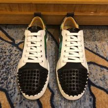 Plus Size 35-47 Luxury Fashion Brand Men loafers Germuss Black Spikes men shoes Rivets Casual Flats