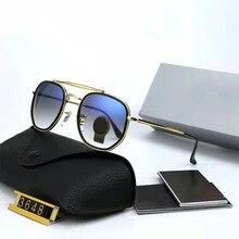 Classic Vintage Sunglasses Men Women Luxury Brand Designer Alloy Frame Tempered Glass Glasses UV400
