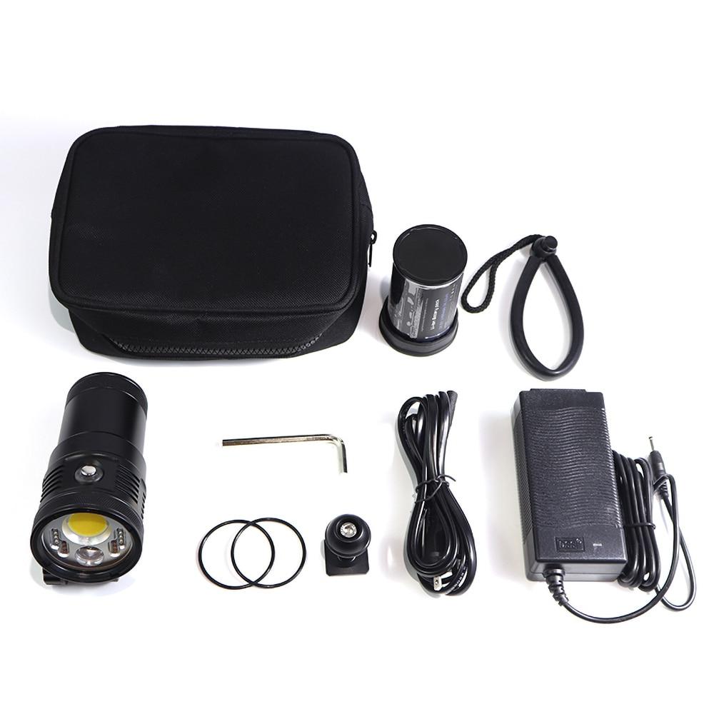 PowerKAN IP68 can dive 150 meters underwater 6000 lumens new underwater photography flashlight video diving light enlarge