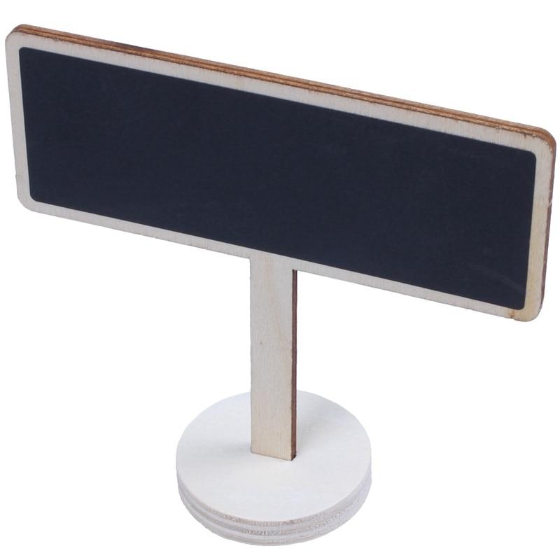 Mini pizarra con soporte y Base gruesa resistente, la mejor para la Mesa de la boda, números, tarjetas de lugar, etiqueta de recuerdo, marcador de planta 12 piezas (