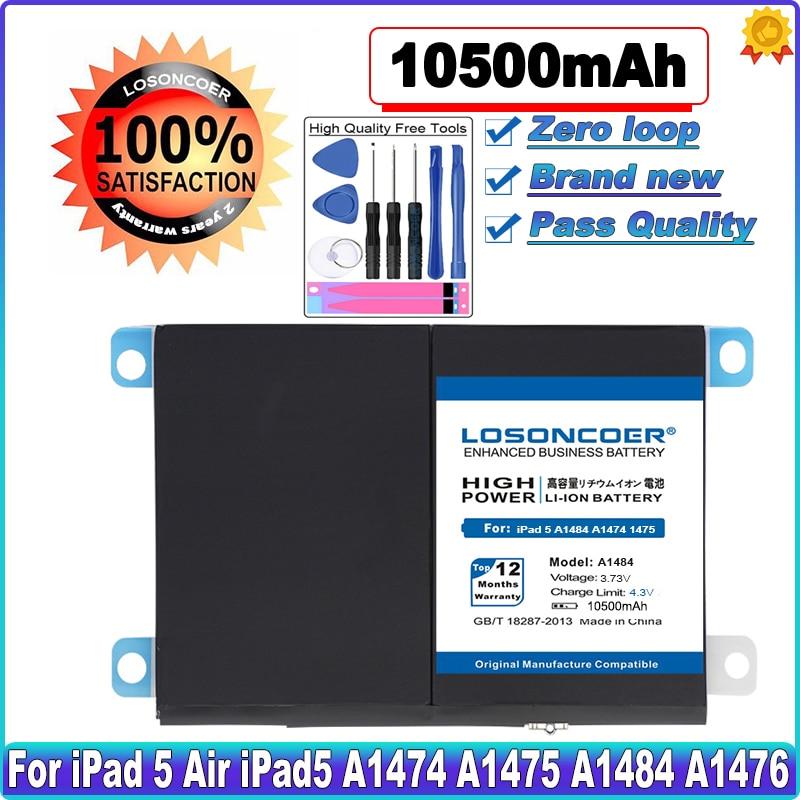 10500mAh A1484 планшетный Аккумулятор для iPad 5 Air 1 iPad5 A1474 A1475 A1484 A1476 A1822 A1823 A1893 A1954 запасная батарея