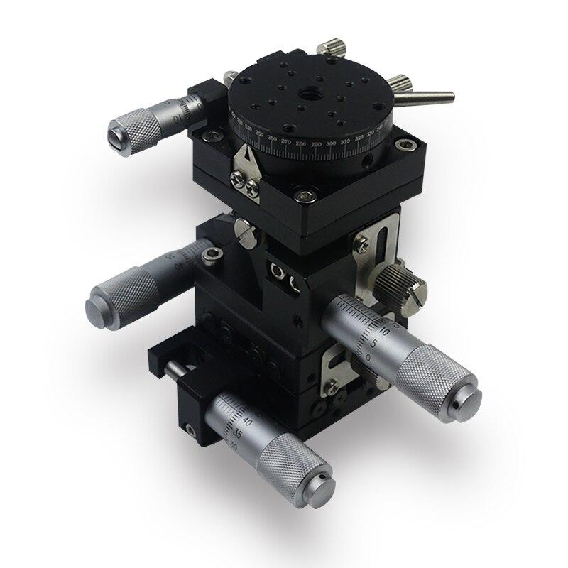 40*40mm tipo V 4-eje XYZR recorte plataforma etapa lineal Manual teniendo ajuste Mesa Deslizante