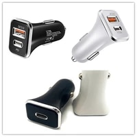 usb car charger quick charge qc3 0 type c pd18w 20w fast car charging charger for iphone 12 s20note 1020 xiaomi mobile phone