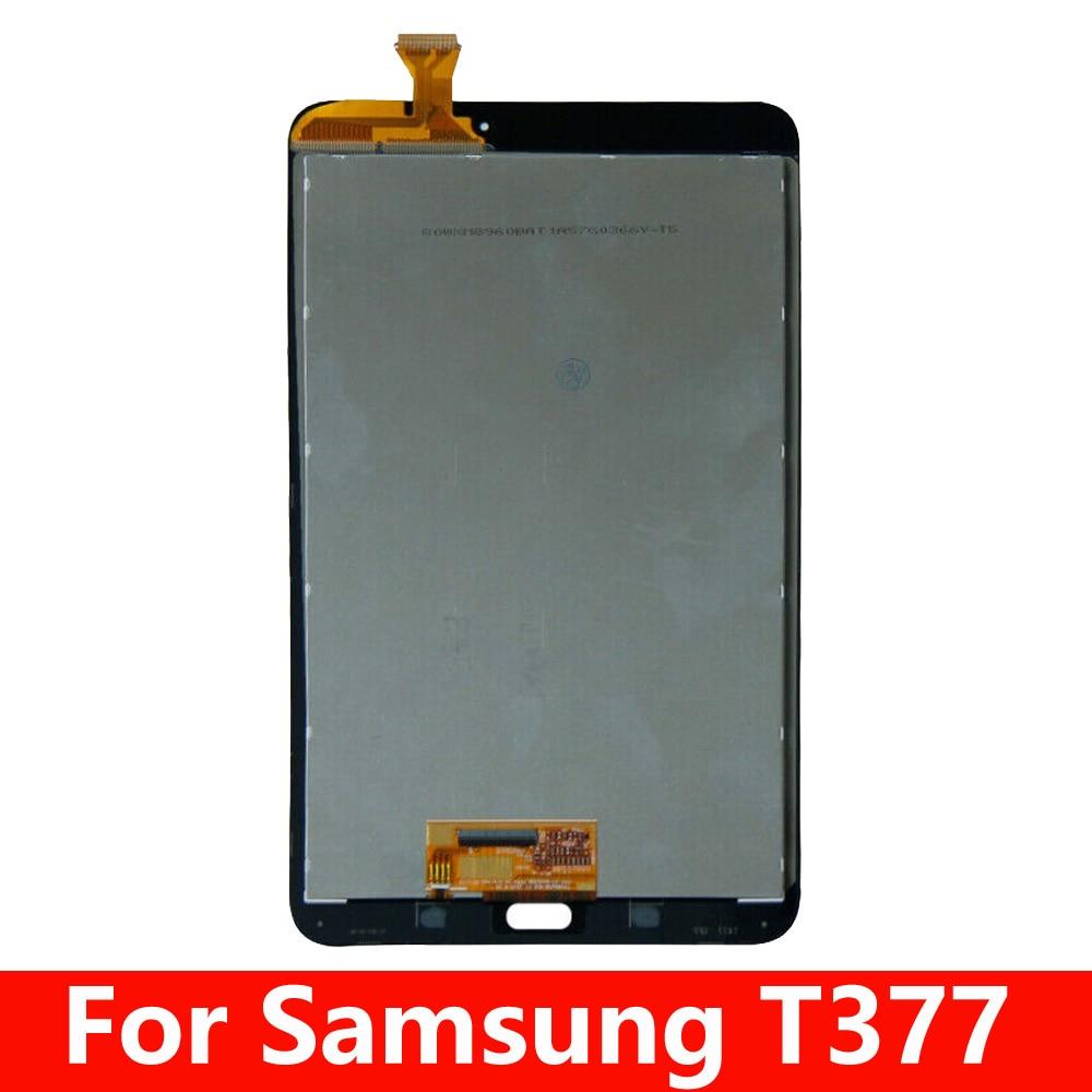 "8.0 ""lcd para samsung galaxy tab e 8.0 t3777 t377 display lcd sensor de tela toque digitador do painel vidro"