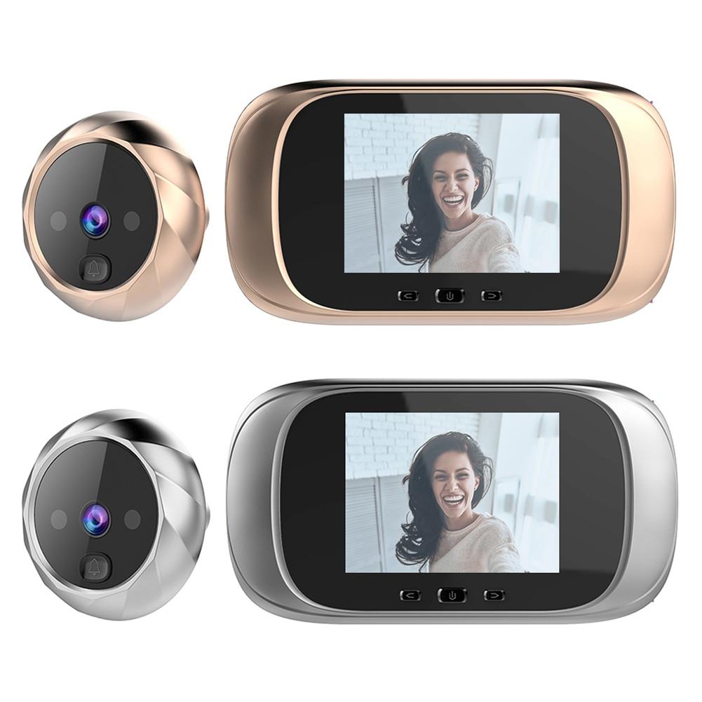 DD1 2.8 بوصة TFT شاشة رقمية LCD جرس الباب 0.3MP الأشعة تحت الحمراء للرؤية الليلية باب الإلكترونية كاميرا بثقب دقيق المشاهد جرس الباب