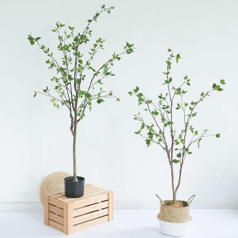 Fabricante de local quente simulação cedrela camélia árvore sala de estar grande falso nordic verde planta pote árvore