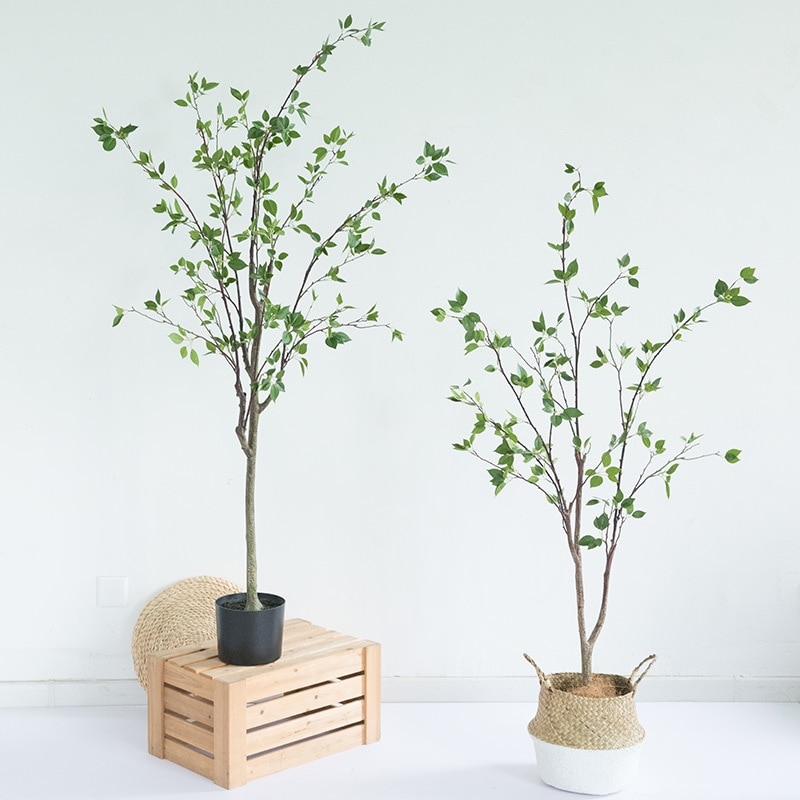 Fabricante de punto de simulación caliente cedrela árbol de Camelia sala de estar grande falso verde nórdico maceta árbol