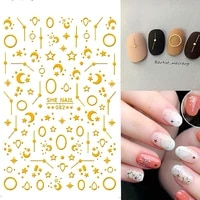 6 sheets 3d nail art stickers decals for nail tips decoration design tools matt flower pattern yj022