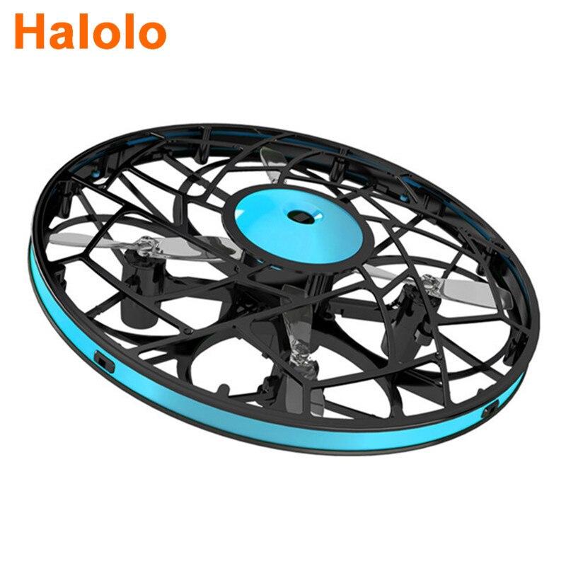 Halolo البسيطة UFO RC اليد drone Infraed هليكوبتر تحلق 830 تدوير الاستشعار التعريفي dron الإلكترونية Flayaball لعب الاطفال