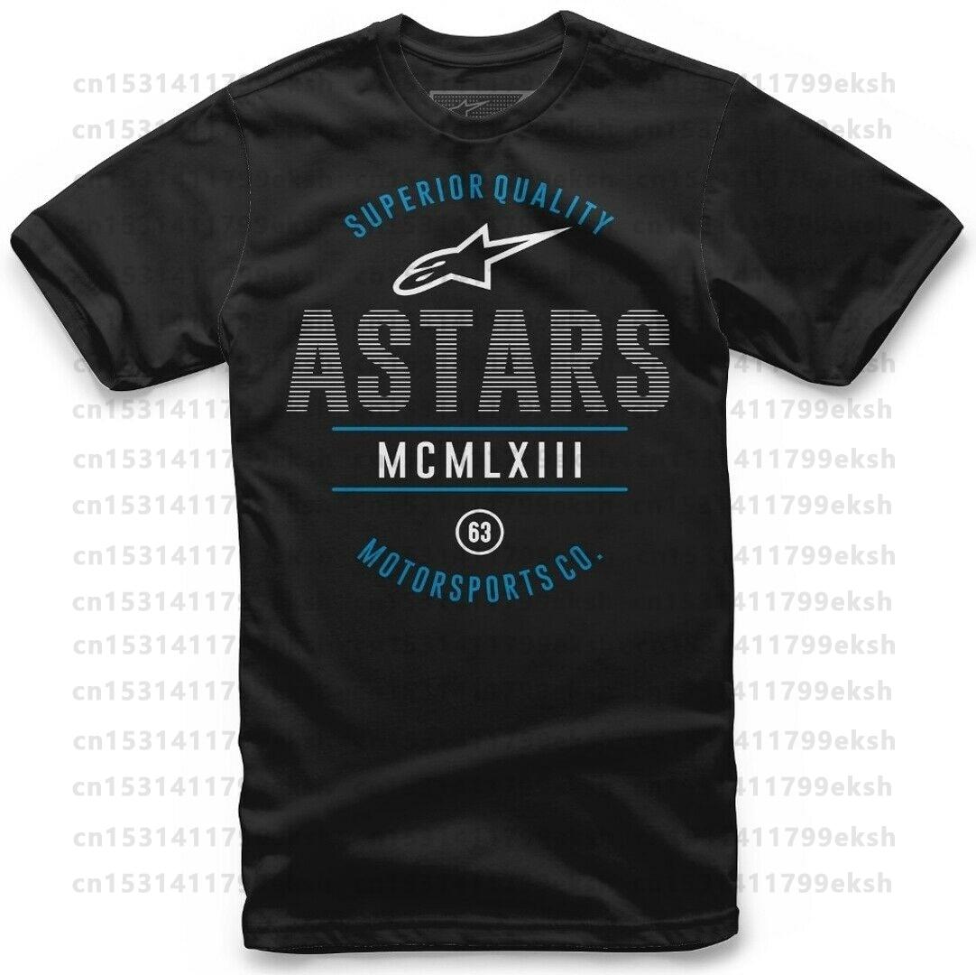 A stars Civil T-Shirt man's T-shirt motorcycle gtr Alpine Short Sleeve Tshirts Fashion Style O-neck Cotton Printed Pattern