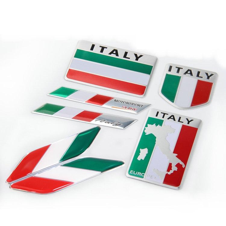 1 шт. 3D алюминиевая эмблема с флагом Италии эмблема на крыло наклейка на багажник автомобиля Наклейка для стайлинга автомобиля